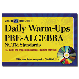 Daily Warm-Ups: Pre-Algebra for Common Core State Standards