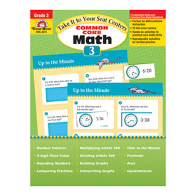 Take It to Your Seat: Common Core Math Centers, Grade 3