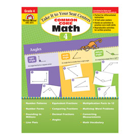 Take It to Your Seat: Common Core Math Centers, Grade 4