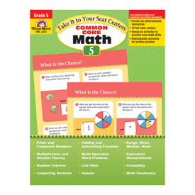 Take It to Your Seat: Common Core Math Centers, Grade 5