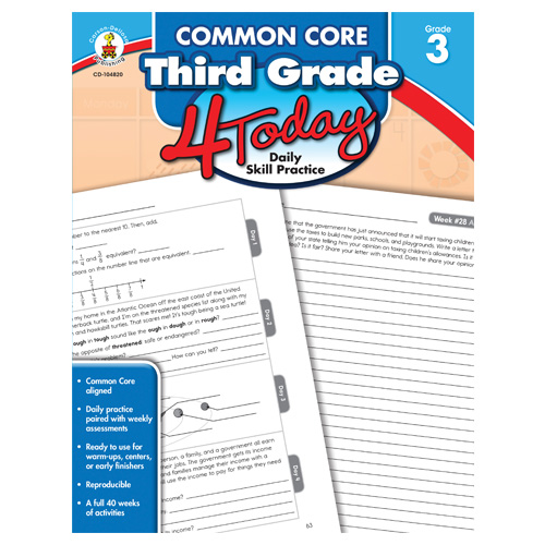 Common Core 4 Today: Third Grade Daily Skill Practice