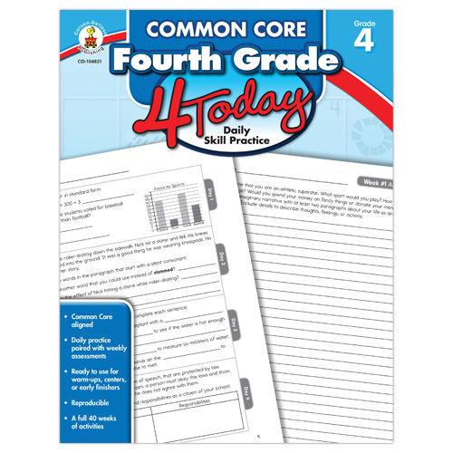 Common Core 4 Today: Fourth Grade Daily Skill Practice