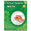 Critical Thinking: Test-taking Practice for Math - Grade 3