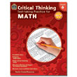 Critical Thinking: Test-taking Practice for Math - Grade 6
