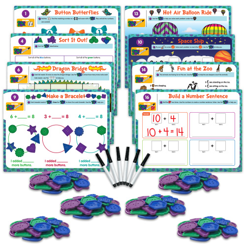 Hands-On Math Centers: Jumbo Button Counters - Grade K - Hands-On ...