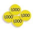 Sensational Math™ Place Value Discs - Thousands - Set of 100