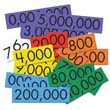 Sensational Math™ Place Value Cards - 7-Value Whole Numbers