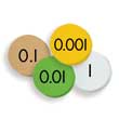 Sensational Math™ Place Value Discs - 4-Value Decimals to Whole Number: Set of 100