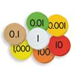 Sensational Math™ Place Value Discs - 7-Value Decimals to Whole Numbers: Set of 175