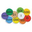 Sensational Math™ 10-Value Decimals to Whole Numbers Place Value Discs Set