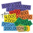 Sensational Math™ Place Value Cards - 10-Value Decimals to Whole Numbers