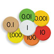 Sensational Math™ Place Value Discs - 7-Value Decimals to Whole Numbers: Set of 2,100