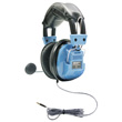 HamiltonBuhl Deluxe Headset with Gooseneck Mic and In-Line Volume Control plus TRRS Plug