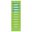 Lime Polka Dot 10-Folder Pocket Chart