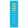 Aqua Polka Dot 10 Pocket File Storage Pocket
