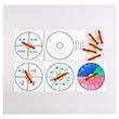 Dry-Erase Boards With Suction Cup Spinners - Set of 10