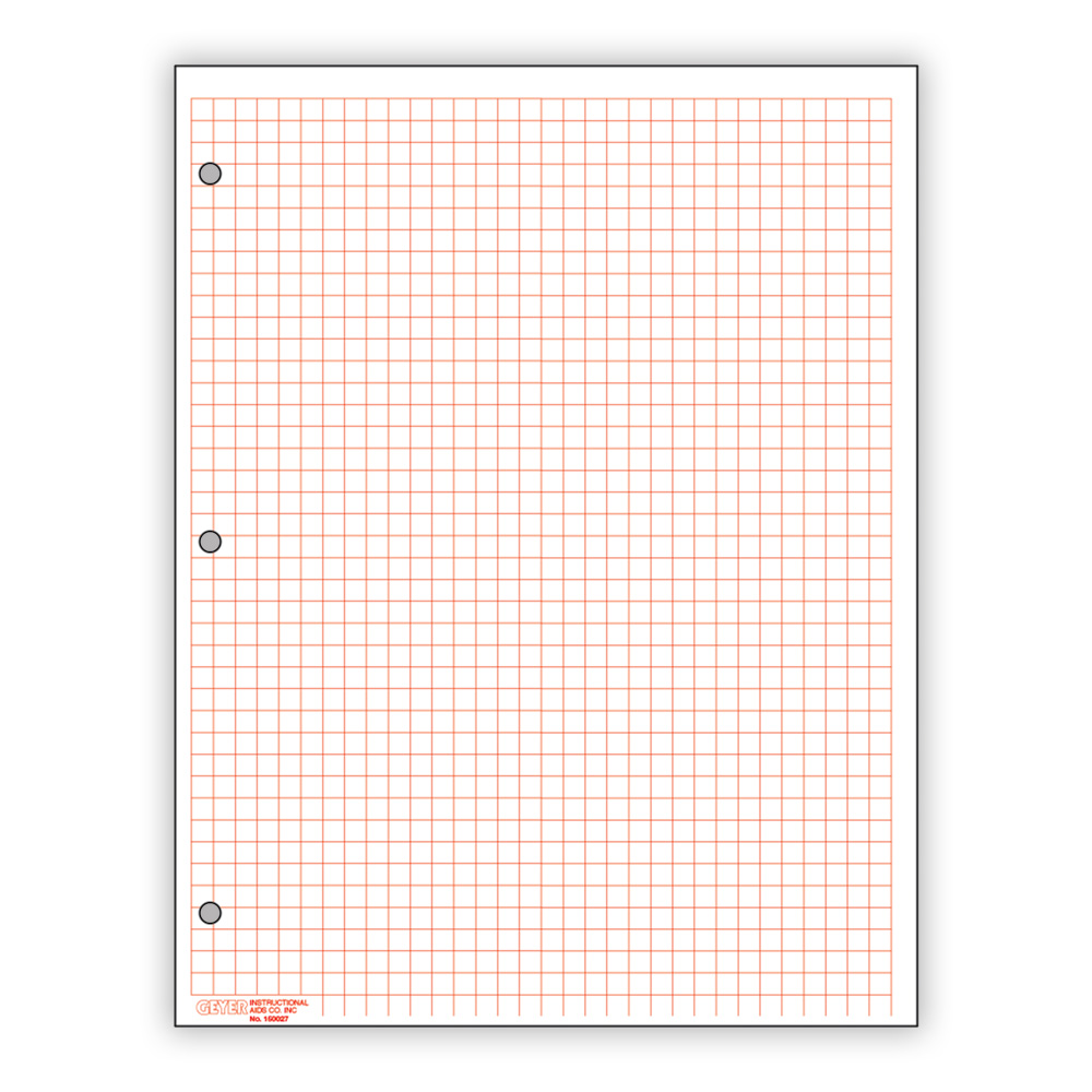 Graph Paper Red 1 4 Quot Grid Pack Of 500 Math