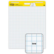 "Post-it® Easel Pads - 2 Pack- White with 1"" Blue Grid"
