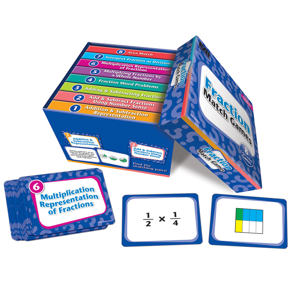 Fraction Match Games: Grade 5 - Web Exclusives | EAI Education