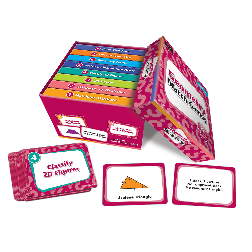 Geometry Match Games: Grades 3-4 - Web Exclusives   EAI Education