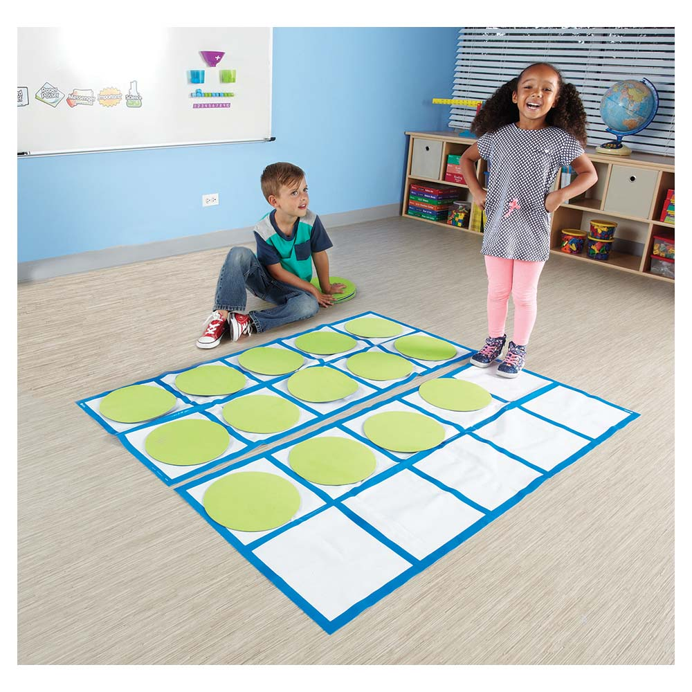 Ten Frame Floor Mat Activity Set Place Value Eai Education