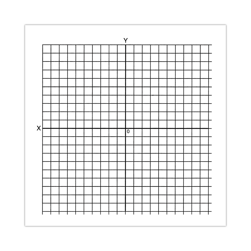 Marvelous Graph Paper Stickers, Accentuated XY Axis (Roll Of 500)