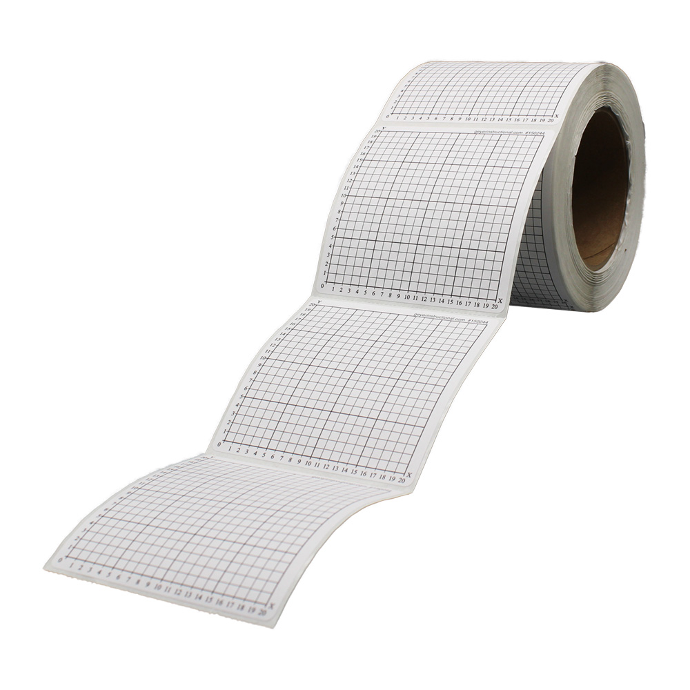 worksheet Quadrant Graph Paper graph paper stickers 1st quadrant numbered 0 to 20 roll of 500 500