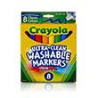 Crayola Ultra-Clean Washable Classic Broad Line Markers - Set of 8