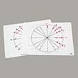 Write-On/Wipe-Off Unit Circle Mats - Set of 10