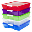 12x12 Stack & Store Box - Assorted Colors - Set of 5