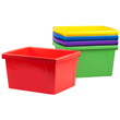4 Gallon Classroom Storage Bin - Assorted Colors - Set of 6