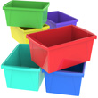 5.5 Gallon Classroom Storage Bin - Assorted Colors - Set of 6