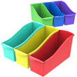 Large Book Bins - Assorted Colors - Set of 6