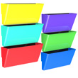 Magnetic Wall Pocket - Assorted Colors - Set of 6