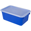 Small Cubby Bin with Cover - Blue - Set of 6