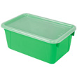 Small Cubby Bin with Cover - Green - Set of 6