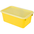 Small Cubby Bin with Cover - Yellow - Set of 6