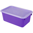 Small Cubby Bin with Cover - Purple - Set of 6