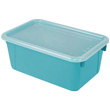 Small Cubby Bin with Cover - Teal - Set of 6