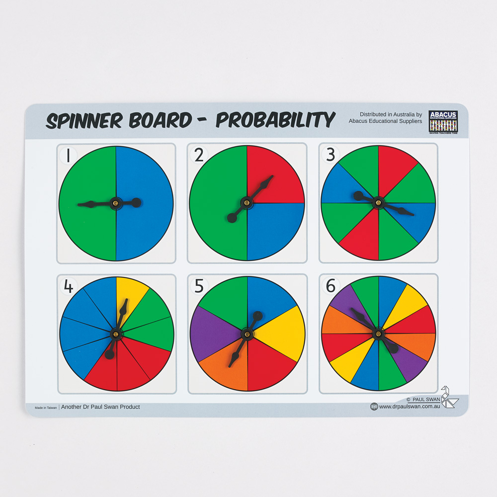 Spinner Boards Probability Set Of 8 Sale Discount