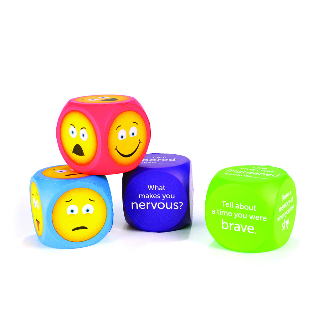 Emoji Emotion Cubes - Set Of 4