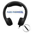 Flex-PhonesXL™ Foam Headphones with Mic for Teens - Black