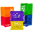 Interlocking Mini Crates - Assorted Colors - Set of 12