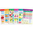 Shapes & Figures Bulletin Board Chart Set - Set of 6