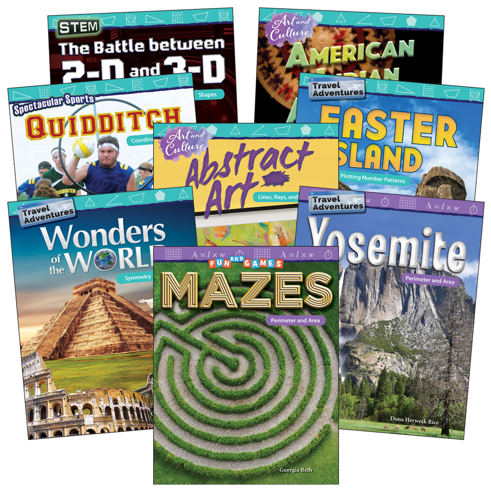 Math in the Real World 8-Book Set - Geometry: Grades 4-5