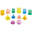 Transparent Geometric Volume Set: 8 cm - Set of 12