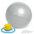 Balance Ball No-Roll Weighted Seat - Silver, 45cm