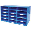 Corrugated Mailroom Sorter with Dry Erase Laminate - 15 Compartments