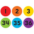 Spot On® Numbers 1–36 Carpet Markers - 4""