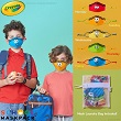 Crayola™ Kids Reusable Cloth Face Mask Set - Tip Faces